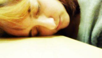 Asleep on the desk