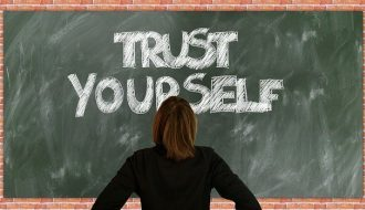 Blackboard message - Trust Yourself