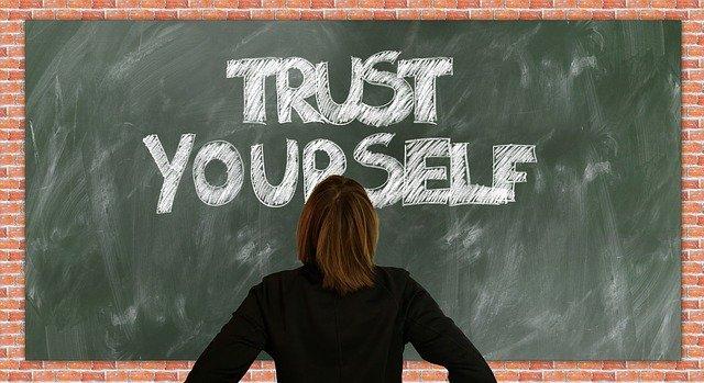 Blackboard message - Trust Yourself